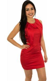 Vestido Capim Canela Flor De Liz Vermelho