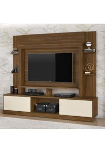 Estante Para Tv E Home Theater 2 Portas Miami Belaflex Freijó/Off White