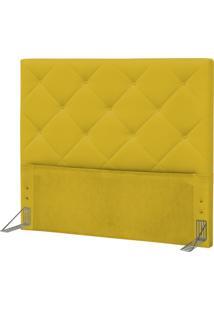 Cabeceira Casal Queen 160 Cm Oásis Corino Amarelo - D'Monegatto