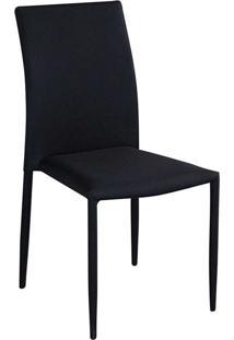 Cadeira Amanda Tecido Preta Rivatti Móveis