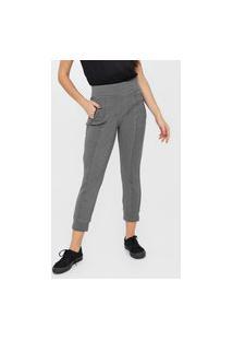 Calça Calvin Klein Jeans Jogger Zíper Cinza