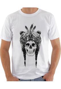 Camiseta Shirt Deads Skull Urso Madboss Branca