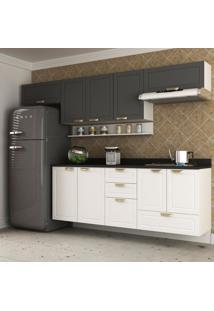 Cozinha Completa 7 Peã§As Americana Multimã³Veis 5668S Branco/Grafite - Branco/Incolor - Dafiti
