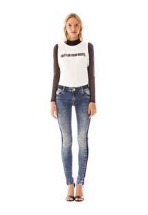 Calca Skinny Andreia Cos Baixo Reserva Lateral Jeans