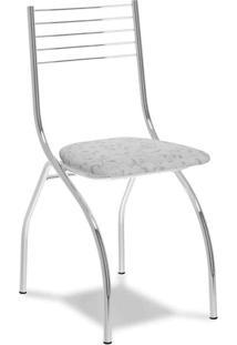 Cadeira Cromada Fantasia Branca