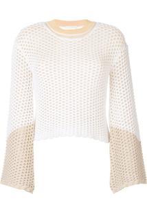 Chloé Suéter Perfurado - Branco