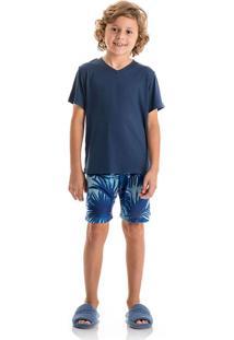 Pijama Surf Masculino Marine/P