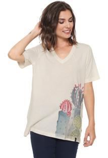 Camiseta Cantão Cacto Aquarela Off-White