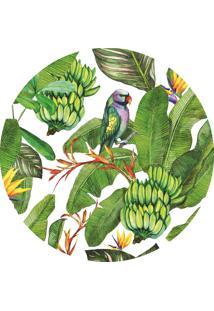 Jogo Americano Bendita Feitura Tropical Bananas Em Ps Verde