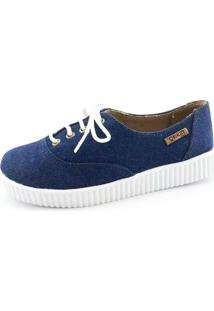 Tênis Creeper Quality Shoes Feminino 005 Jeans Escuro 39