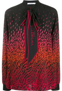 Givenchy Blusa Com Amarração Na Gola - Preto