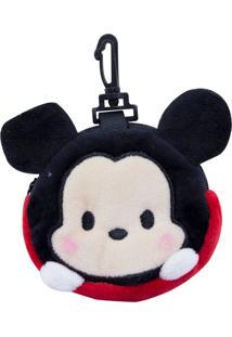 Porta Moeda Minas De Presente Pelúcia Mickey Tsum Tsum - Disney Preto