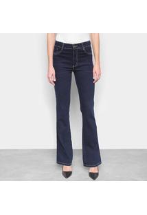 Calça Jeans Flare Sawary Boot Cut Cintura Média Feminina - Feminino