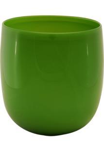 Vaso Bianco E Nero 25X24Cm Verde