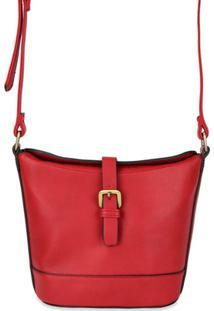 Bolsa Loucas Por Bolsas Transversal Vintage Couro Ecológico - Feminino-Vermelho