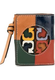 Tory Burch Carteira Miller Color Block - Verde