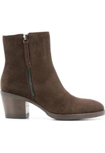 P.A.R.O.S.H. Ankle Boot De Couro - Marrom