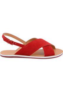Rasteira Summer Fun Colors Vermelho/34