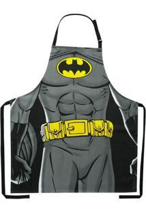 Avental De Algodão Batman Body Preto 70 X 80 Cm