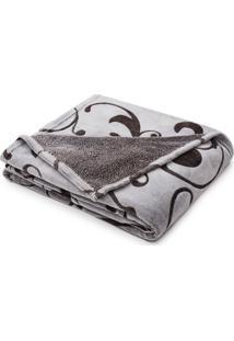 Cobertor Solteiro Microfibra Aconchego Alto Relevo - Loani - Cinza