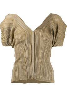 Chloé Blusa De Tricô Metálico - Dourado