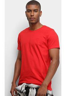 Camiseta T-Shirt Colcci Basic Masculina - Masculino-Vermelho
