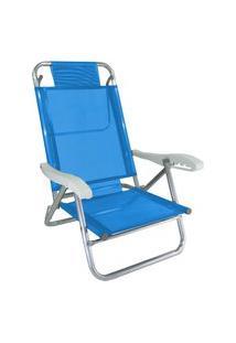 Cadeira De Alumínio Reclinável Tradicional Zaka Banho De Sol