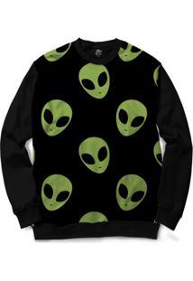 Blusa Bsc Alien Full Print - Masculino-Preto