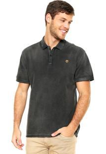 Camisa Polo Timberland Bordado Cinza