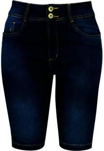 Bermuda Jeans Pau A Pique Básica Azul Escuro