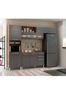Cozinha Compacta Carménere 7 Pt 2 Gv Chumbo E Castanho