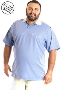 Camisa Konciny Polo Manga Curta Plus Size Lilás