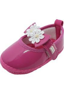 Sapatilha Passinho De Gente Verniz Flor Pink