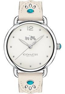 3553242d064 Relógio Digital Branco Couro feminino