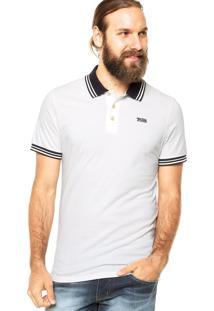 Camisa Polo Manga Curta Triton Peru Contraste Off-White