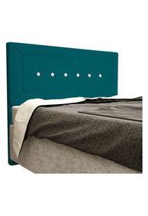 Cabeceira Vegas Cama Box Queen 160 Cm Suede Nest Turquesa D'Rossi