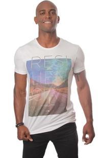 Camiseta Casual Em Agodão 4J Resiliência - Masculino