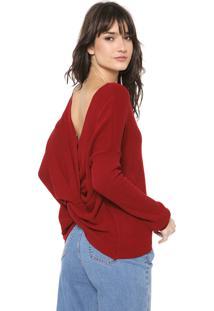 Blusa Iódice Tricot Veronica Vermelha