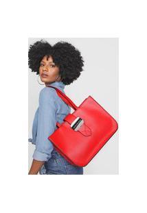 Bolsa Calvin Klein Logo Vermelha