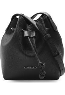 Bolsa Corello Mini Bucket Roberta Eco Floater Corello Cross Bag Preto