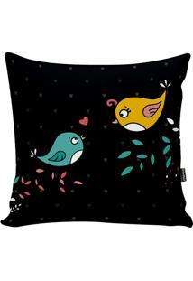 Capa De Almofada Birds- Preta & Amarela- 42X42Cmstm Home