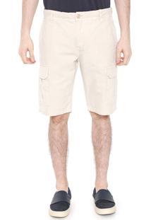 Bermuda Sarja Calvin Klein Jeans Cargo Color Bege