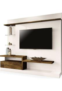 Estante Home Theater Paládio, Off White Com Deck