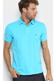 Camisa Polo Tommy H. Piquet Regular Fit Clássica Masculina - Masculino