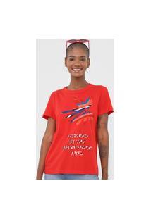 Camiseta Forum Lettering Vermelha