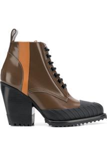Chloé Ankle Boot 'Rylee' De Couro - Marrom