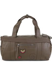 Bolsa Snoopy Barrel Bag Grande Feminina - Feminino-Verde