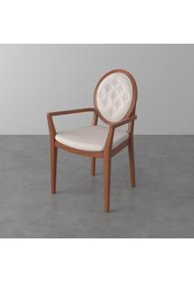 Cadeira Braco Marcele Imbuia Etna