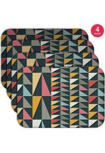 Jogo Americano Love Decor Wevans Geometric Colors Kit Com 4 Pçs