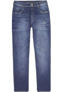 Calça Jeans Masculina Skinny Com Desgastes De Cor Hering